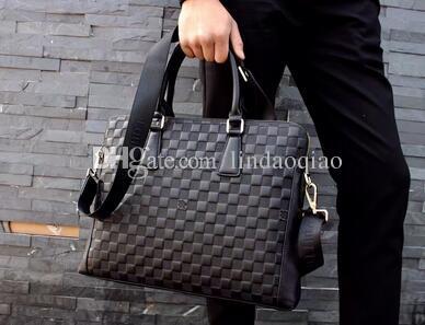 ba70c39e8f77 2018 New Brand Name Laptop Bag High Quality Branded Briefcase Genuine Leather  Mens Bags Men Bag Designer Mens Handbag Business bag 0114-1
