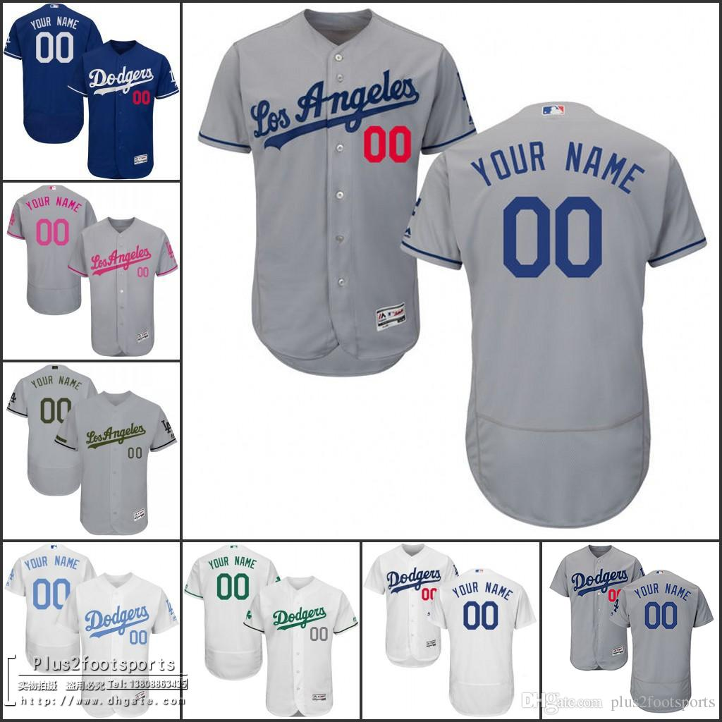 ef5f9bc3d ... 2017 mens los angeles dodgers customized jersey memorial fathers  mothers day camo flex base white grey