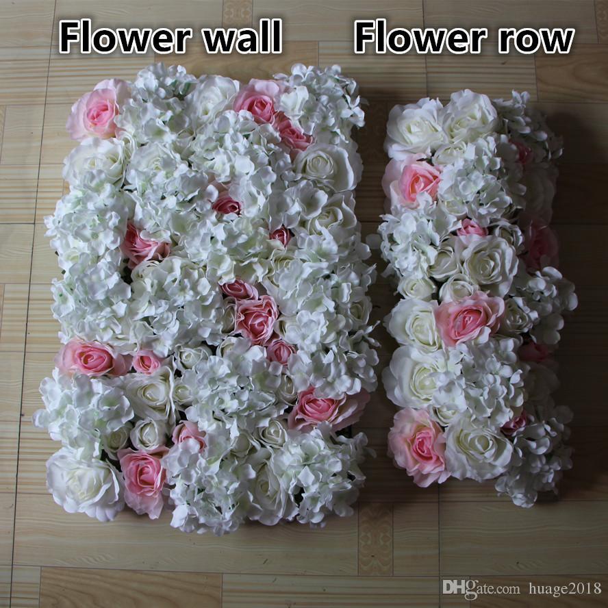 Blumen-Wand Kunstseide stieg Hydrangeablume Wand Hochzeit Hintergrund Rasen / Säule Blume Straße führen Heimmarkt Dekoration /