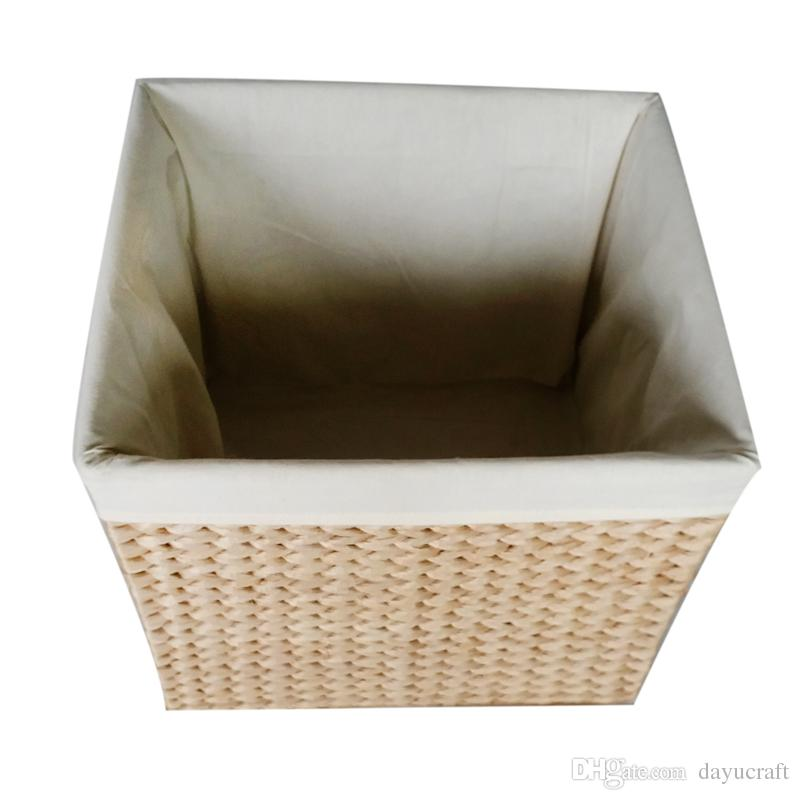 Handcrafted Eco-friendly Straw Woven Storage Basket with Handle Rectangular Bins Laundry Basket Storage Container Straw Woven Storage Basket Storage ...  sc 1 st  DHgate.com & Handcrafted Eco-friendly Straw Woven Storage Basket with Handle ...