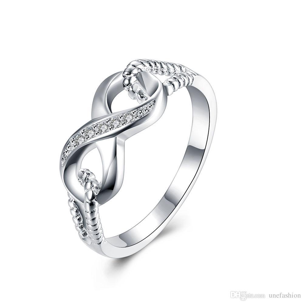 women finger rings design infinite lucky nuber 8 diamond wedding