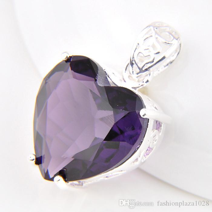 Wholesale 1 lucky shine jewelry superb fire heart amethyst crystal 91 aloadofball Gallery