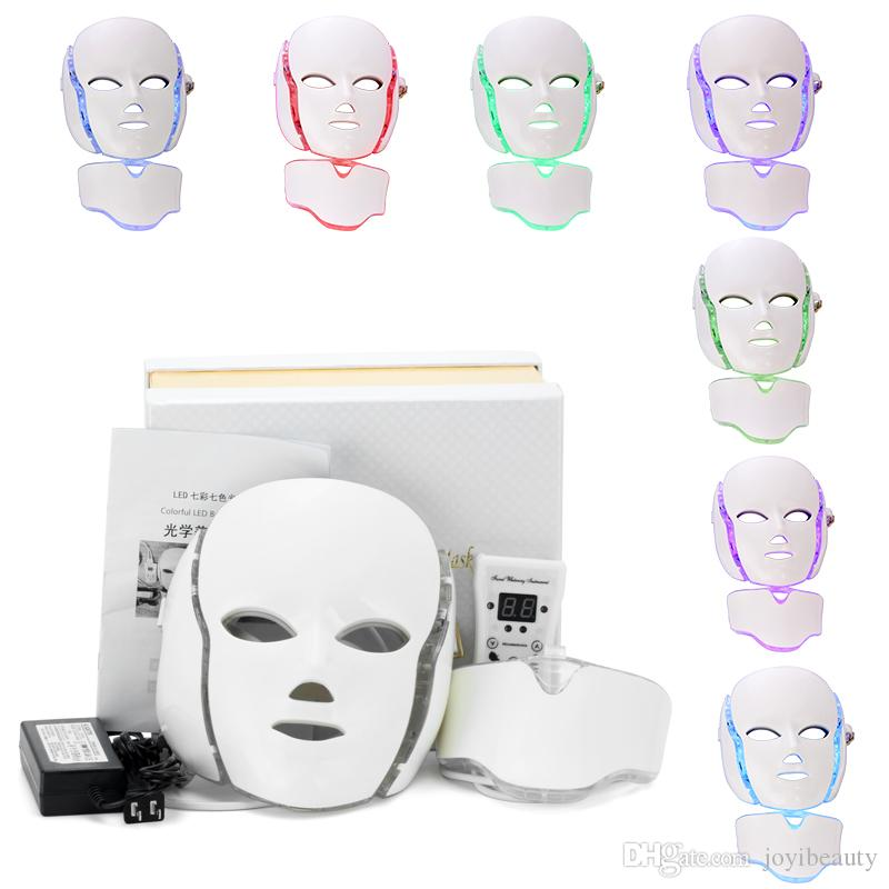 LED Facial Mask With 7 PDT Colors Red Blue Green Photon Beauty Machine For Home Use Skin Rejuvenation Whitening Facial Machine