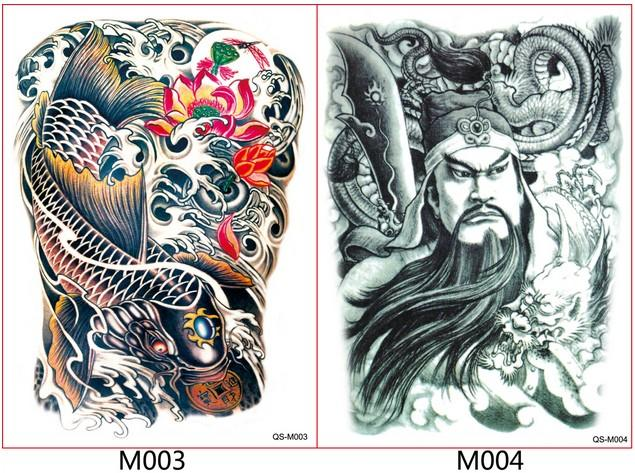 Body art tattoos full back traditional chinese hero waterproof body art tattoos full back traditional chinese hero waterproof tattoos temporary tattoos water transfer tattoos temporary tattoo silver temporary tattoo maxwellsz