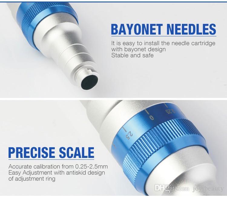 La mejor pluma del rodillo de la derma de la pluma de la microaguja Recargable Corea Derma Microneedle La pluma del Dr. ULTIMA A6 con los cartuchos de la aguja para la eliminación de la cicatriz