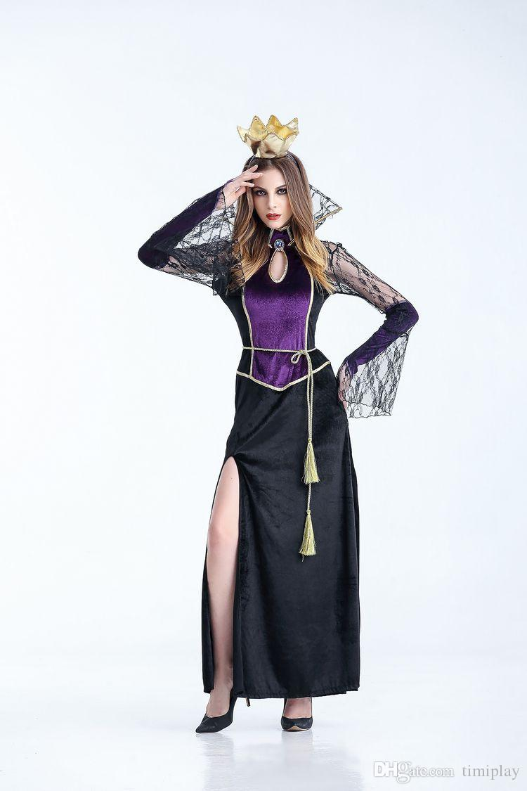Adult Halloween black vampire queen cosplay dress The vampire role-playing cos