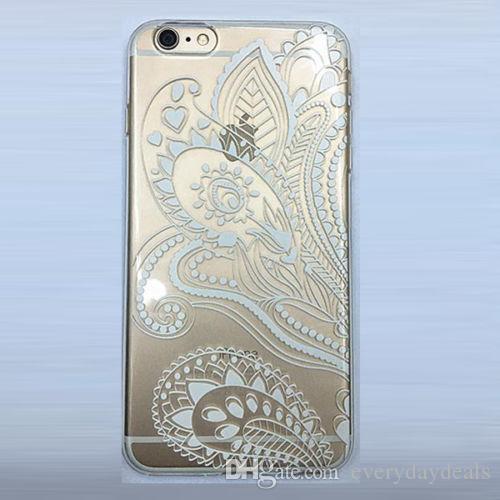 Para Apple Iphone 5s 5c 6 Plus Ultra Thin Soft TPU Clear funda de piel de cristal