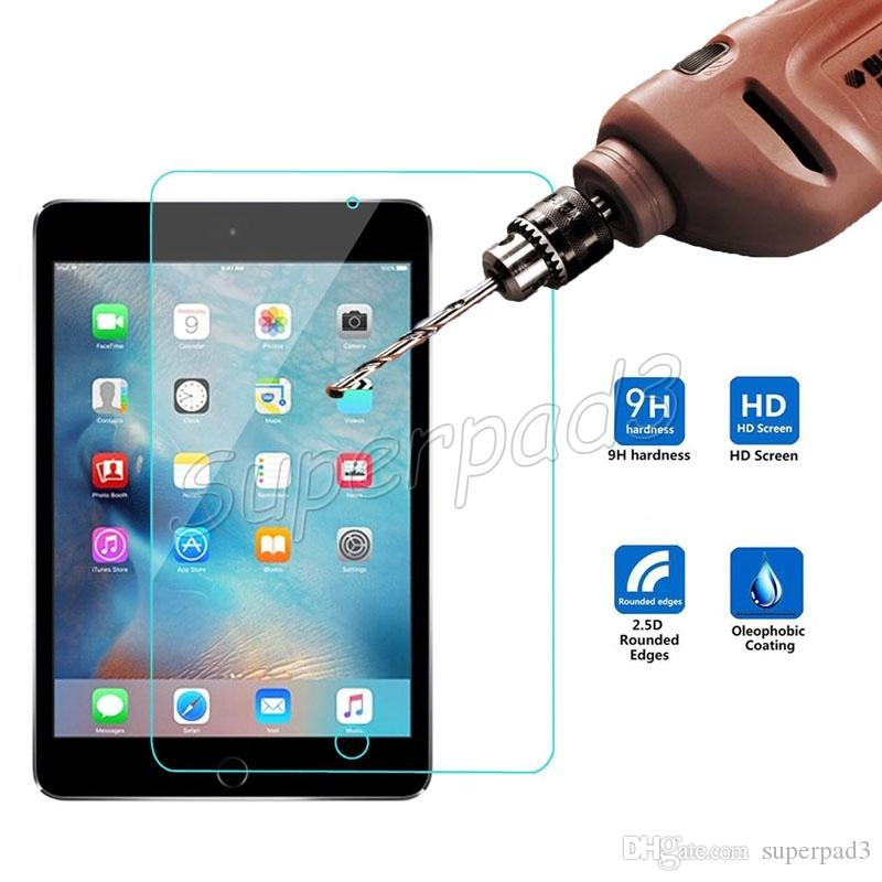 """Premium Rounded Edge Tempered Glass Film For Ipad Pro 12.9"""" 9.7"""" Tablet PC Screen Protector 0.33mm Explosion Proof HD Film"""