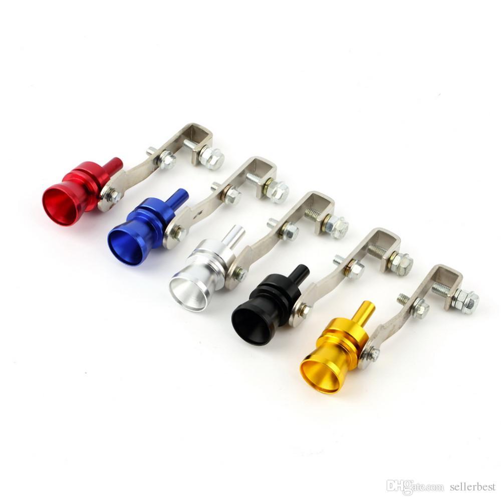 5 цвет звук свисток выхлопной трубы выхлопной трубы БОВ сдуть клапан турб турбины симулятор алюминия для мотобайка автомобиля