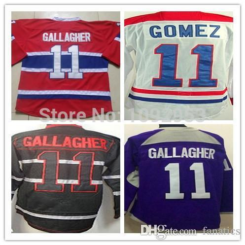 watch ae97a f9f97 2016 Cheap Mens Hockey Jerseys Ice Brendan Gallagher Jersey #11 Red White  Black Purple Authentic Stitched Gallagher Ice Jersey
