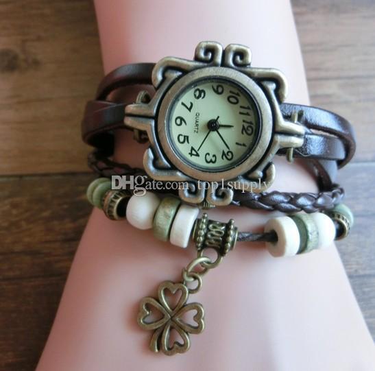 c23c65b513c Retro Quartz Weave Wrap Around Leather Bracelet Bangle Womens Luxury ...