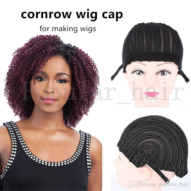 Black Color Wig Caps Adjustable Straps For Making Caps For Weaving Caps Easy  Sew In Crochet Braided Lace Wigs Cap Black Women Fashion Use Full Lace Wig  Cap ... c1f5119558ea