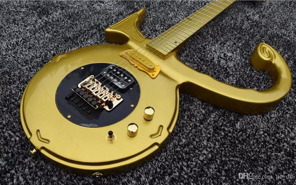 Rare Shaped Guitar By Jerry Auerswal Gold Prince Love Symbol