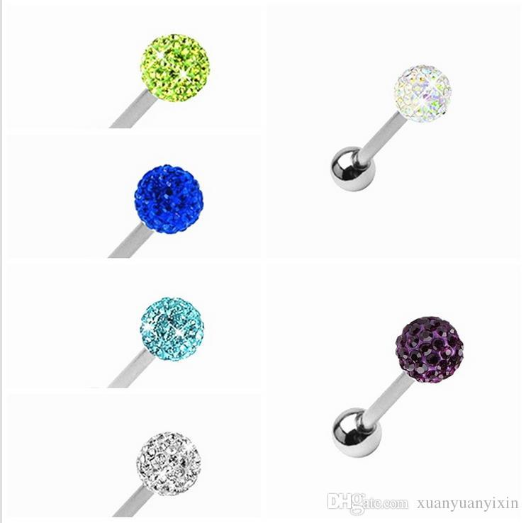 New human body piercing jewelry tongue nail nose nail stainless steel diamond tongue nail men and women general