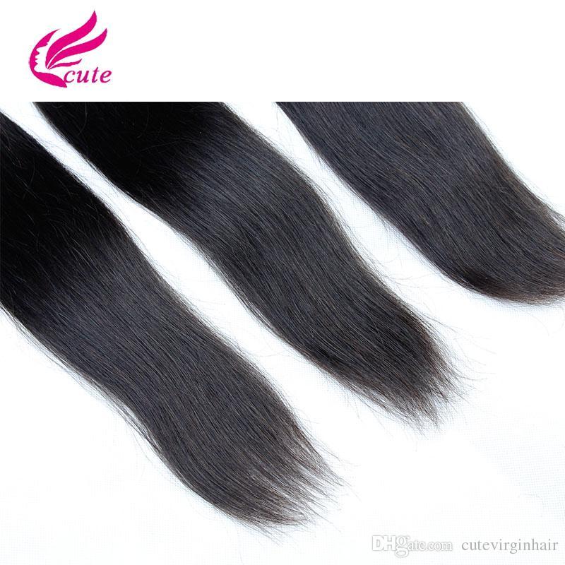 Malezya Düz Saç Brezilyalı Perulu Malezya Bakire Saç Örgü Demetleri Ucuz Remy İnsan Saç Uzantıları Doğal Renk Boyanabilir