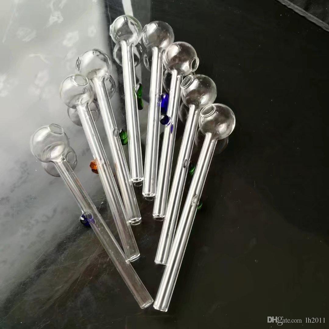 Nueva maza de fulcro de color, Bongs de cristal al por mayor, pipas de agua de cristal de la hornilla de aceite, accesorios de pipa de humo