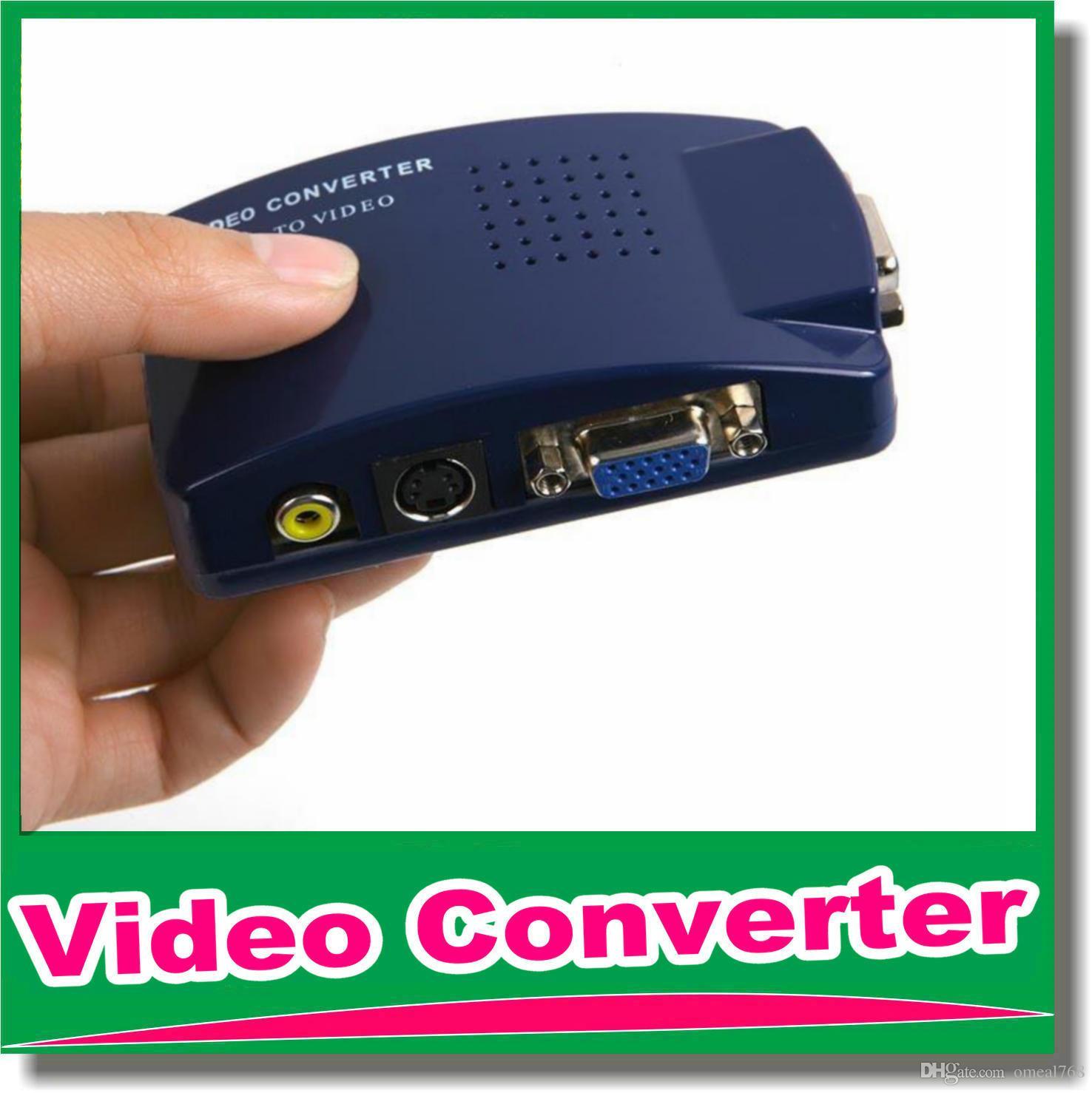 New Vga To Video Universal Pc Vga To Tv Av Rca Signal Adapter ...