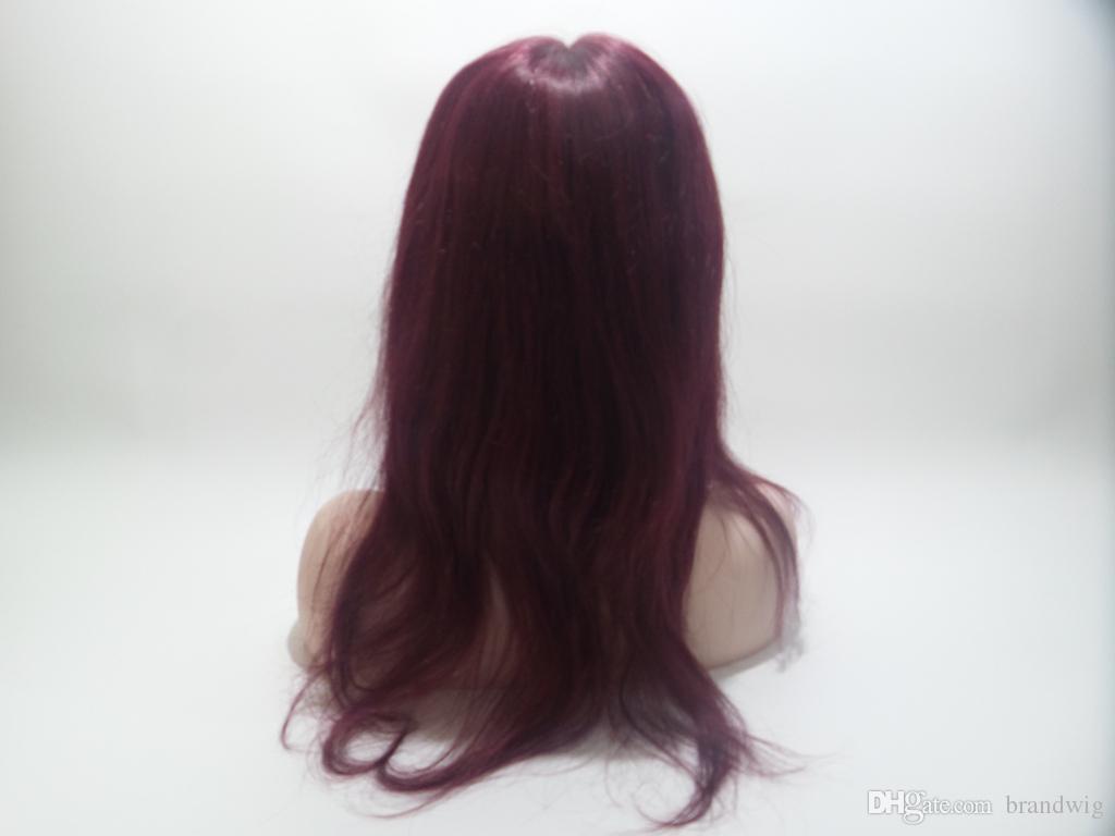 # 99 Livraison Gratuite De Cheveux Péruviens Vierge Sans Colle Full Lace Simulation Ligne Du Cuir Chevelu Simulation 5.5 * 5.5 Quot; Lacets Et Cheveux De Bébé
