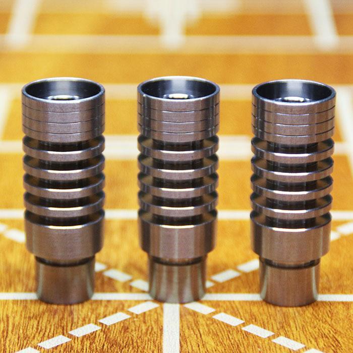 Universale Domeless Chiodo Titanio 14.4mm 18.8mm Funzione GR2 Cera Olio narghilé fumo vetro gorgogliatore tubi di acqua bong bong ash rig