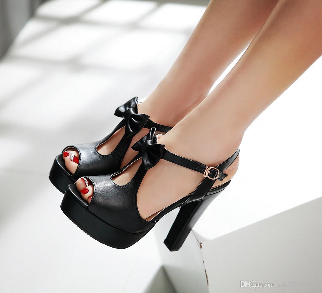 Designer-Damen des süßen Modeplattform-Absatzes kleiden Sandalen