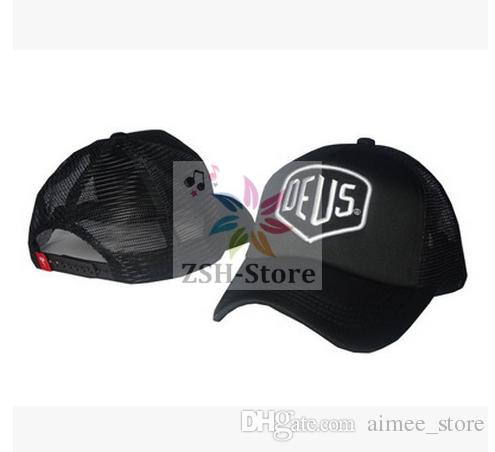 deus ex machina baylands trucker cap black mototcycles hat. Black Bedroom Furniture Sets. Home Design Ideas