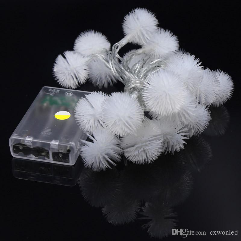 New LED 2 m Puffer Ball LED String Light Battery Lamp Christmas Tree Decoration Light