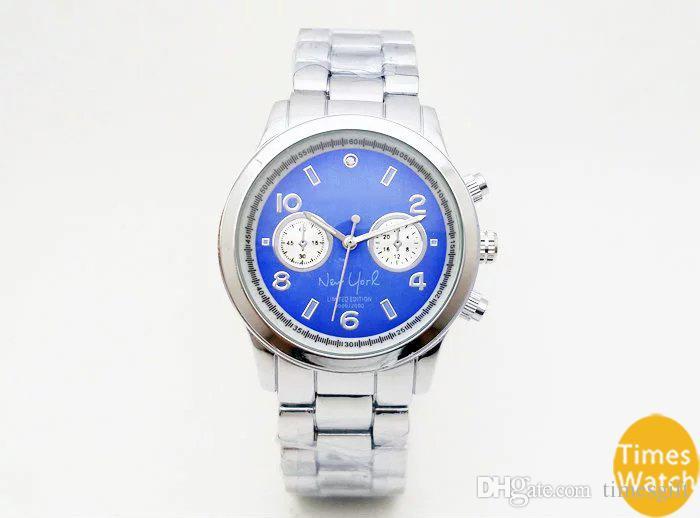 20% de desconto Moda M marca relógios de pulso dos homens das mulheres de luxo de ouro de aço inoxidável pulso Relojes Negócios moda movimento relógio de quartzo relógio de prata