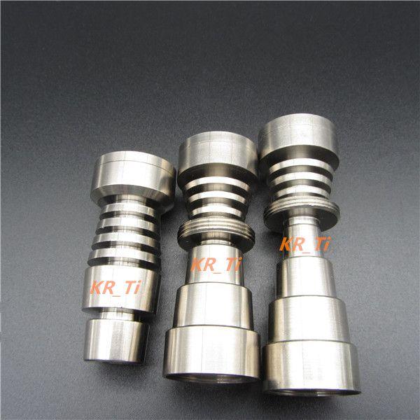 2016 뜨거운 판매 고품질 Domeless 티타늄 못 3 개 조정 가능한 남성 여성 1014 18 19 mm GR2 6in1 및 6in1 6 개의 구멍
