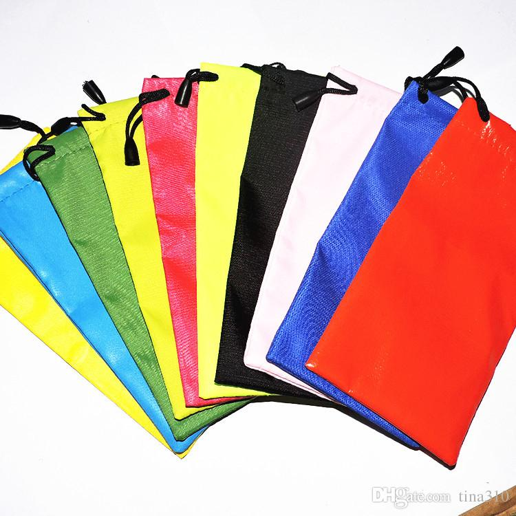 High Quality Candy Color Plastic Sunglasses Pouch Soft Eyeglasses Bag Glasses Phone bags Drawstring Sunglasses Cases 2941
