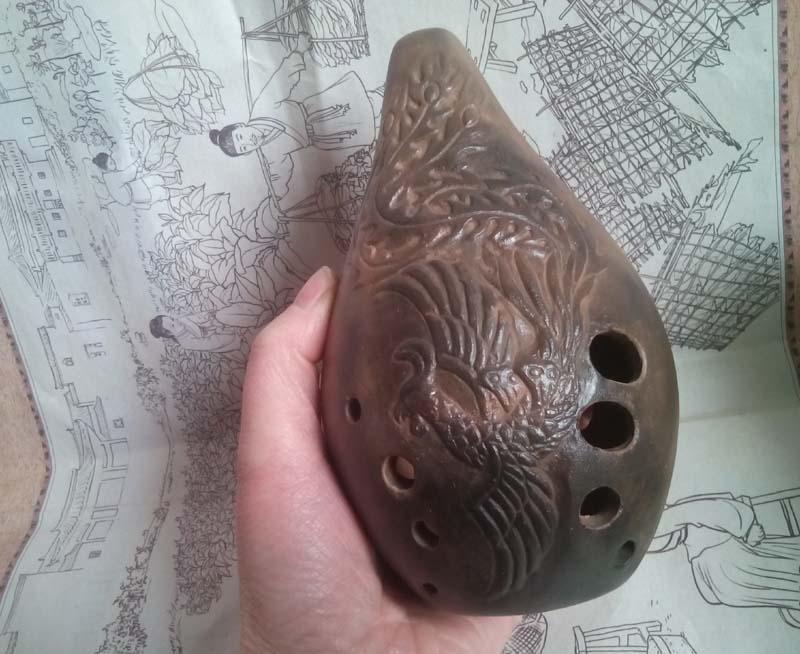 Xun ancien instrument de musique flûte Ocarina bon cadeau son cadeau F droit traditionnel chinois