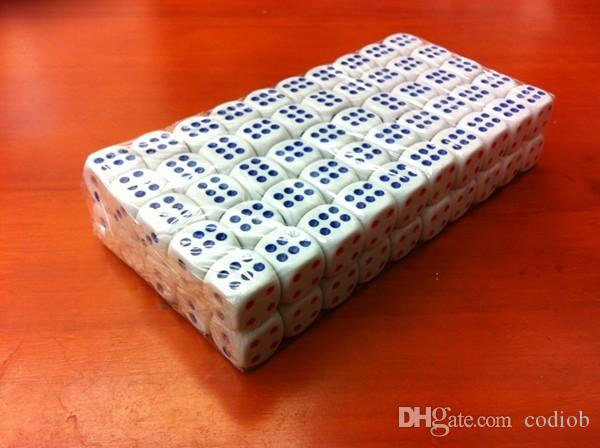 Белый 6-ти сторонний обычный кубик 22 мм кубики Обычный бозон КТВ-бар Ночной клуб Питьевая игра в кости Хорошая цена # N7