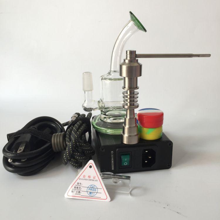 Domeless enail for hookah shisha electric e nail dab rigs for WAX oil dab heating coil with titanium nail glass bong DHL