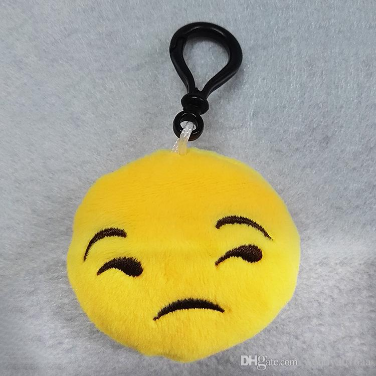 10 adet 6 * 2.5 cm Sevimli Güzel Emoji Gülümseme anahtarlık Sarı QQ İfade yüz anahtarlık anahtarlıklar çanta için asmak bebek oyuncak araba