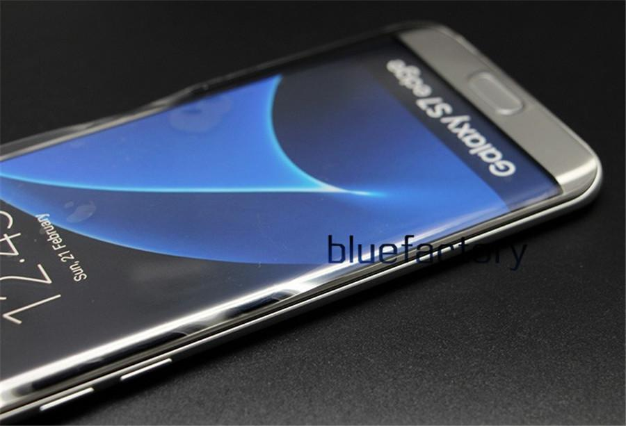3D TPU Kavisli Ekran Koruyucu için Galaxy S6 S7 kenar Artı Tam Kapak Kapatma Temizle Kristal Anti-Şok Koruyucu Film için Not 5