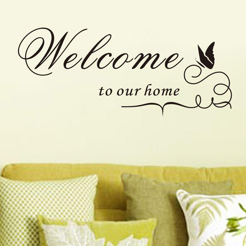 Welcome To Our Home Quote Removable Vinyl Decal Decals Wall
