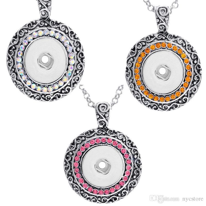 3 Renkler NOOSA Zencefil Yapış Charms Takı Değiştirilebilir Jewerly Kristal Kolye Kolye toptan kadınlar için B0368