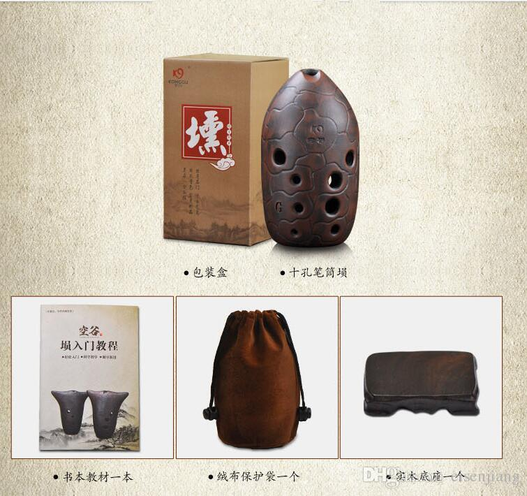 Ancien instrument de musique de flûte Ocarina pour débutant nice Une imitation chinoise en cuivre Xun