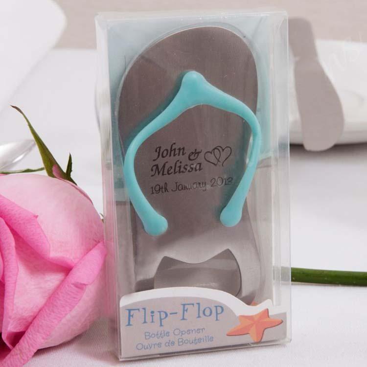 Flip Flop Bottle Opener Personalized Gift Wedding Gift Keyring FREE SHIP