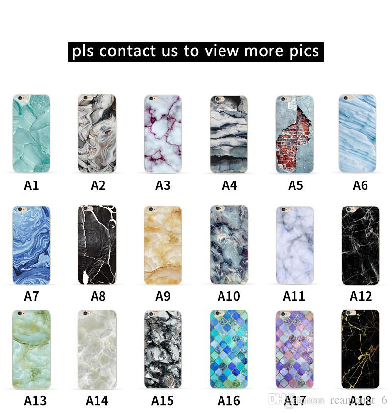 Hot Sell Soft TPU Phone Case with Marble Pattern for iPhone X Durable Dirt-resistant Cell Phone Back Cover for iPhone 8 8 Plus
