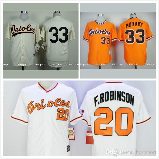 19a85f3b01c ... MLB Cool Base 2017 Baltimore Orioles 20 Frank Robinson Jersey 1971  White .