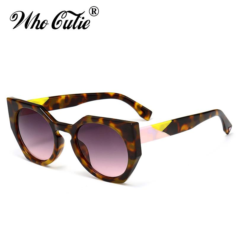 aaf4970b62 2017 Irregular Polygon Cat Eye Sunglasses Women Brand Designer ...