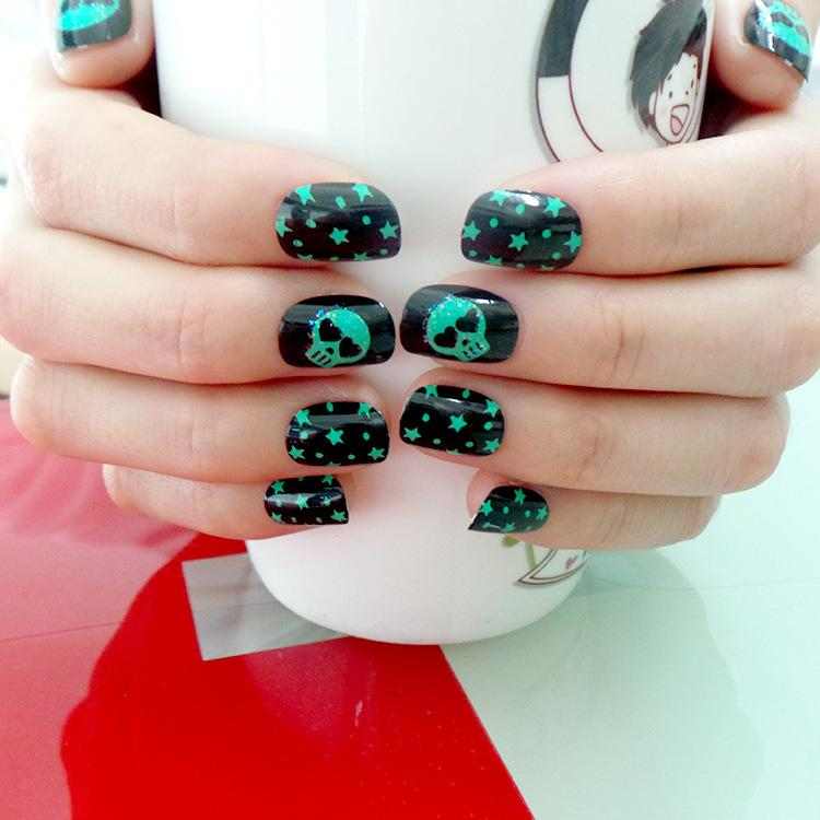 New Style Halloween Fake Nail, Child Adult Universal Environmental ...