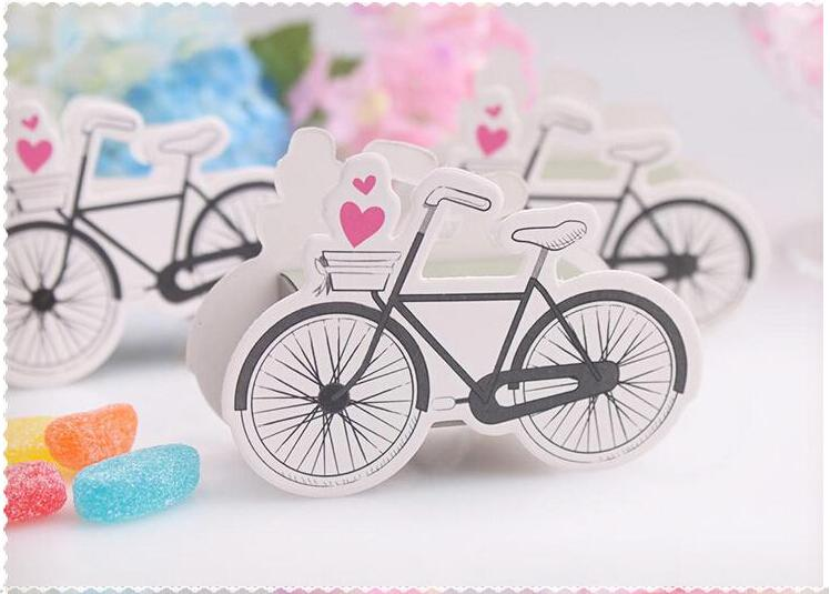 Cute Wedding Favor Box Print Bicycle Paper Small Gift Chocolate