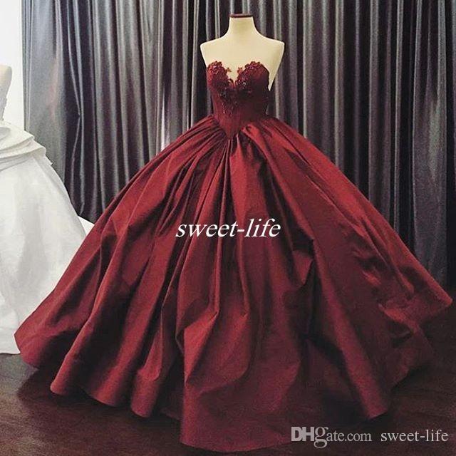 긴 공 가운 이브닝 드레스 새틴 연인 Applique Beaded 전체 길이 2019 맞춤형 특별 행사 드레스 댄스 파티 드레스
