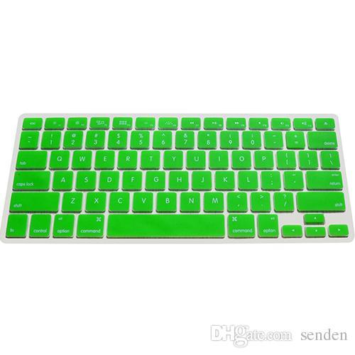 Piel protectora de la cubierta del teclado del silicón al por mayor-colorido del envío para el ordenador portátil de Apple Macbook Pro MAC 13 15 17 Air 13 4WGB