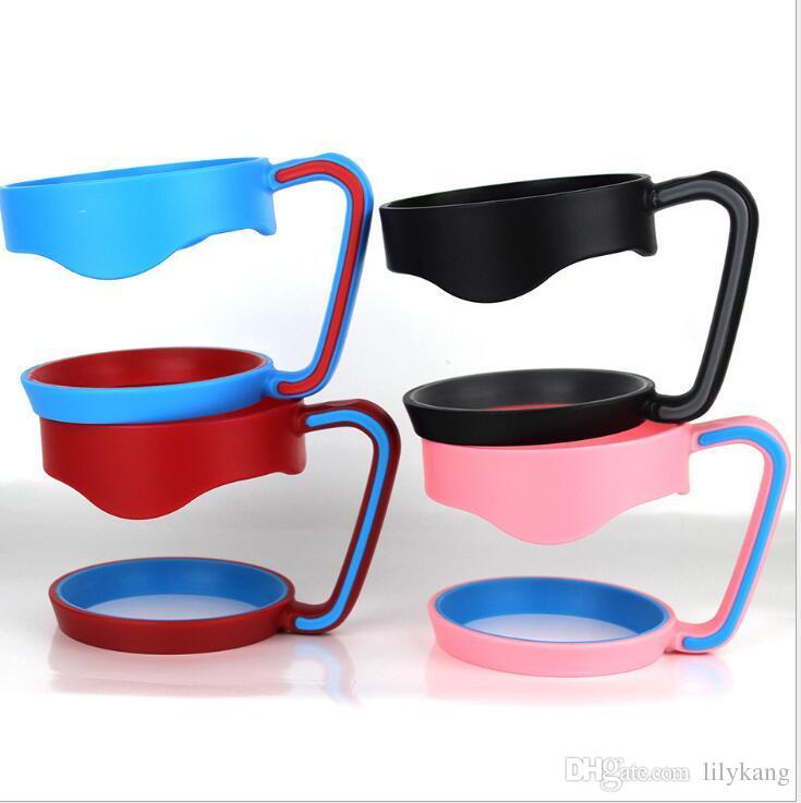 poignées en plastique 7 couleurs poignées en plastique portatives pour les gobelets de voiture de 30OZ