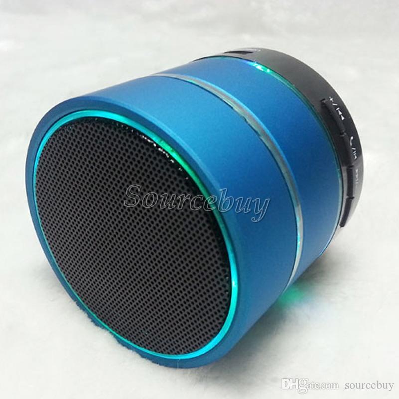 Mini Bluetooth Kablosuz Hoparlörler S09 LED Işıkları Ile Taşınabilir Stereo Subwoofer Mikro TF Kart Mic USB Disk Kulaklık Yuvası Çağrı Almak
