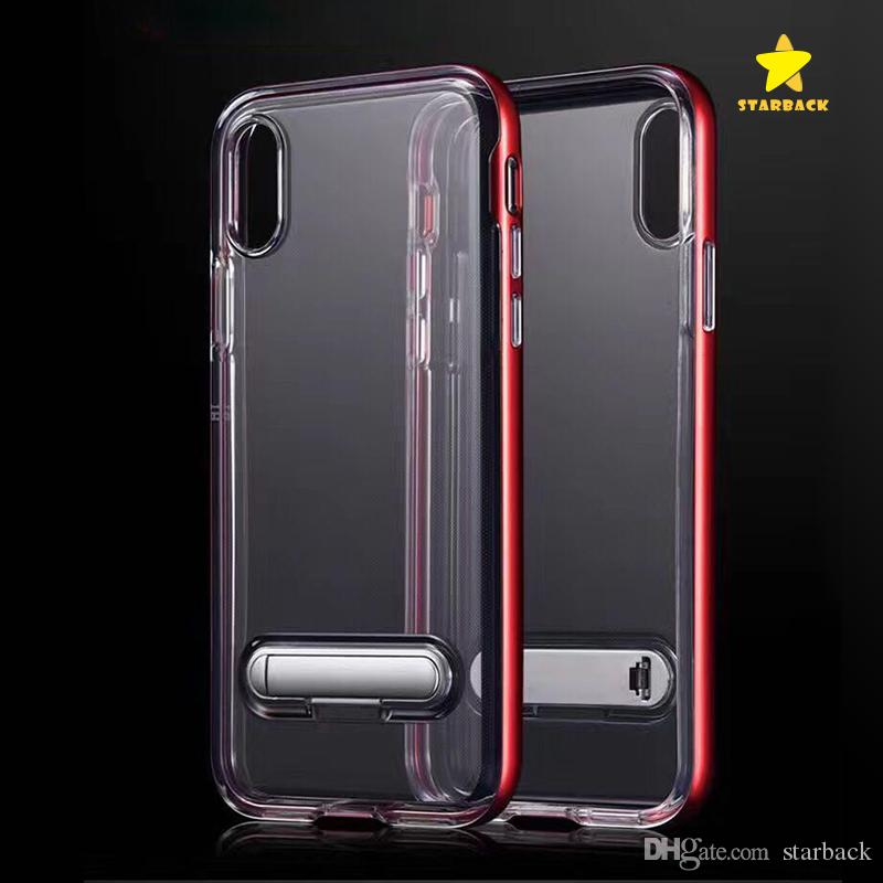 wholesale dealer ea722 d23d5 Ultra Hybrid Case for iPhone 8 Plus iPhone X iPhone 7Plus with Air Cushion  and Magnetic Metal Kickstand for Samsung S8Plus with Retail