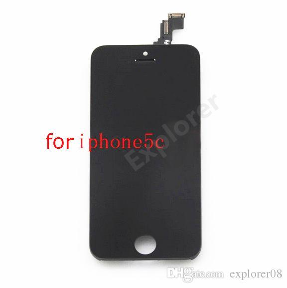 Preto branco Teste Passado para a apple iphone 5g 5c 5s tela de toque lcd comletely touch screen display digitador assembléia peças de reposição