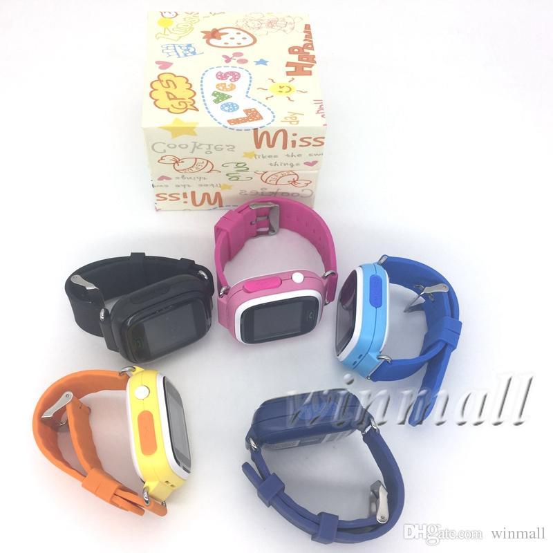 Q90 الذكية الساعات الاطفال GPS المقتفي + واي فاي 1.22 بوصة تعمل باللمس دعم 2G بطاقة SIM سي المقتفي التطبيقات أفضل هدية للأطفال
